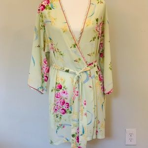 Oscar de la Renta Floral Robe with Pockets